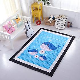 Thảm chơi cho bé chần bông dày 25mm cao cấp, Cotton Hàn Quốc. Nhiều họa tiết đáng yêu