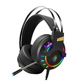 Tai nghe Game thủ K3 chụp tai gaming LED RGB Âm thanh 7.1 USB