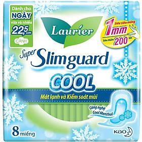 Băng Vệ Sinh Laurier Super Slimguard Cool Mát Lạnh & Kiểm Soát Mùi 22,5cm 8 Miếng