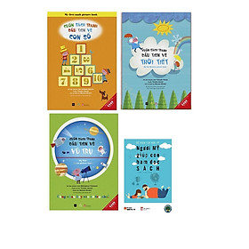 Combo Cuốn sách tranh đầu tiên về Vũ trụ, Thời Tiết, Con số Tặng kèm cuốn Người Mỹ giúp con ham đọc sách