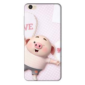 Ốp lưng nhựa cứng nhám dành cho Vivo Y55 in hình Heo Con Love