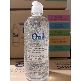 Gel Rửa Tay Khô On1 chai 500ml - Khử mùi, diệt khuẩn, bảo vệ da tay