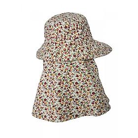 Mũ chống nắng 2 lớp có khẩu trang chất thô