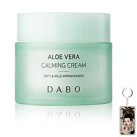 Kem dưỡng trắng da lô hội Dabo Aloe Vera Calming Hàn Quốc 50ml tặng kèm móc khóa
