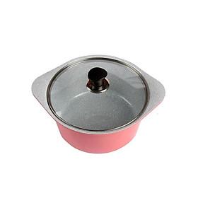 Nồi đúc ceramic cao cấp 2 tay cầm 24cm, dùng được bếp từ