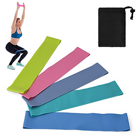 5 PCS Resistance Loop Bands with Storage Bag Elastic Booty Band Set for Yoga Fitness Home Gym Training