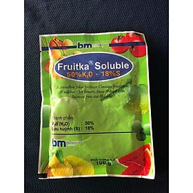 Phân bón lá Fruitka Soluble - 50% KNO2 20% S- giải pháp Kali cho cây trồng, chống Rụng trái hiệu quả