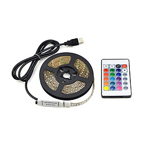 Đèn Dây LED RGB USB Chống Nước Có Điều Khiển (5V)
