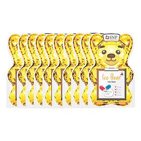 Bộ Mặt Nạ Dưỡng Trắng Gấu Băng SNP  Ice Bear Vitamin Mask (10 Miếng)