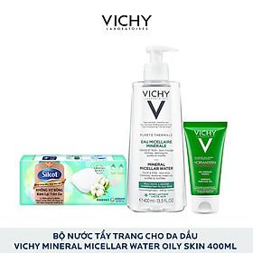 Bộ Nước Tẩy Trang Danh Da Dầu Vichy Mineral Micellar Water Oily Skin 400Ml