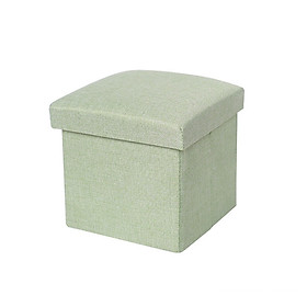 Ghế hộp gấp gọn tiện dụng 30X30CM xanh lá trơn