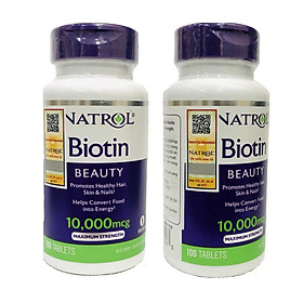 Thực phẩm Bổ Sung Natrol BiotiN 10,000mcg Maximum Strength