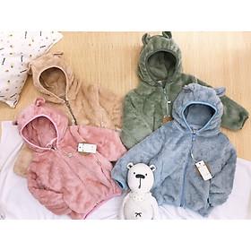 Áo khoác lông gấu Alaska cho bé trai bé gái mềm mịn ấm áp