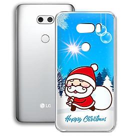 Ốp lưng điện thoại LG V30 - 01253 7939 SANTA02 - Noel - Merry Christmas - Silicon dẻo - Hàng Chính Hãng