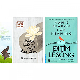 Combo 2 cuốn:  Đi tìm lẽ sống, Từng Bước Nở Hoa Sen (+ bookmark danh ngôn hình voi)