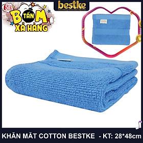 Bestke Khăn Mặt 100% Cotton, Mềm Mại và Siêu Thấm Hút Nước , KT 28cm*48cm/cái, Màu Blue, towel factory