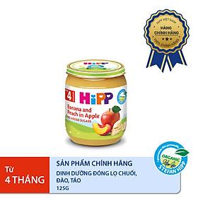 Dinh dưỡng đóng lọ ăn dặm Chuối Đào Táo HiPP Organic 125g