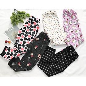 Quần legging dài bé gái từ 20-24kg thun cotton 4 chiều - QG32