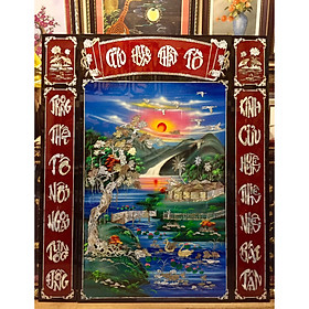 Tranh sơn mài , Cửu Huyền Thất Tổ ( 140x120cm )