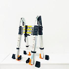 Thang Nhôm Rút Chữ A JUMBO A220 - Chữ A cao 2.2m, chữ I cao 4.4m, tải trọng 300kg