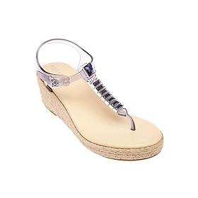 Giày Sandal Nữ Đế Xuồng Heaven Espadrille Holster HS91CMB - Clear Midnight Blue