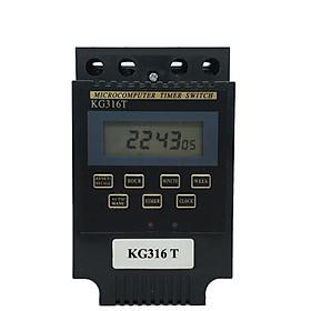 Công tắc hẹn giờ kg316T công suất lớn 25A/220V 17 chương trình (ĐEN) timer hẹn giờ điện tử ổ cắm hẹn giờ