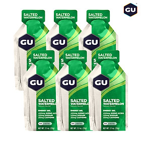 GU Energy Gel Năng Lượng Vị Salted Watermelon - Dưa Hấu Muối Biển - Combo 6 Gói