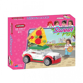 Đồ chơi lắp ghép - Chính hãng Hàn Quốc - Xe Pizza Oxford HS33911 -  gồm 102 mảnh ghép dành cho bé 8 tuổi trở lên