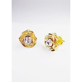 KEELY VALDA Trang sức bông tai bạc Rose mạ vàng 24k đá Swarovski [có video]