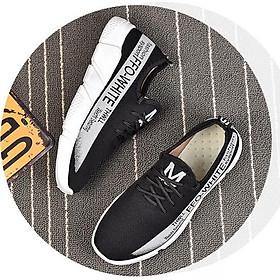 Giày nữ thể thao sneaker phối chữ rẻ bền đẹp TT1
