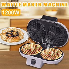 1200W 220V Mini Waffle Machine Waffle Maker Household Electric Cake for Hash Browns and Other Carry-on Breakfast Lunch Snacks