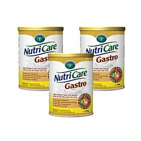 Sữa bột Nutricare Gastro dinh dưỡng y học cho người viêm dạ dày, rối loạn tiêu hoá 3 Hộp (400g)