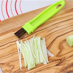 Dụng cụ dao nhiều lưỡi chẻ hành và rau IN02 chất liệu Inox siêu bên