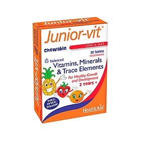Viên Nhai JUNIOR VIT Cung cấp đầy đủ Vitamin và khoáng chất giúp trẻ cao lơn hơn, hết biếng ăn (Hộp 30 Viên)