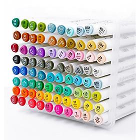 Bút vẽ Marker BUDECOR Touchliit 7 hộp nhựa 40 màu - Tặng sổ vẽ + 2 bút vẽ chuyên dụng