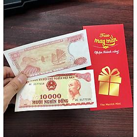 Tờ 10 Nghìn Đỏ 1993 giấy cotton, hoa hậu tiền giấy , 10k vịnh Hạ Long - kèm bao lì xì The Merrick Mint