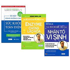 Combo 3 Cuốn Sách Dinh Dưỡng Hay: Bí Mật Dinh Dưỡng Cho Sức Khỏe Toàn Diện ( Tái bản lần 2 ) + Nhân Tố Vi Sinh ( Tái bản ) + Enzyme Chống Lão Hóa ( Tái bản)