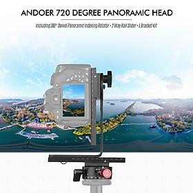 Giá Đỡ Chụp Ảnh 720 Độ Xoay 360 Độ + Thanh Trượt 2 Đường Ray + Bộ Giá Đỡ L Cho Canon DSLR Sony DSLR ILDC Camera Max (3kg)