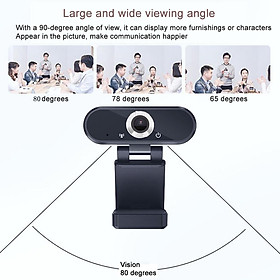 USB Webcam with Microphone, 1080P HD Streaming Webcam for PC, Laptop, Plug and Play Web Camera for Youtube, Video Calling, Studying, Conference