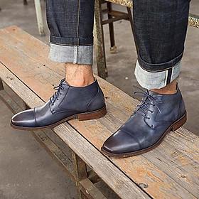 Giày da cao cổ buộc dây 90061