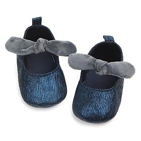 Giày Tập Đi Cho Bé Gái Từ 1 Tháng Đến 18 Tháng Đế Chống Trơn Trượt - Vải Êm Mềm