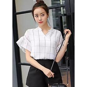 Áo nữ form rộng tay loe nhẹ nhàng Đũi Việt DVS173