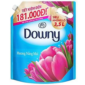 Nước Xả Vải Downy Nắng Mai (3.5L/ Túi) - Giữ quần áo tươi mới - Hương thơm tươi mới kéo dài