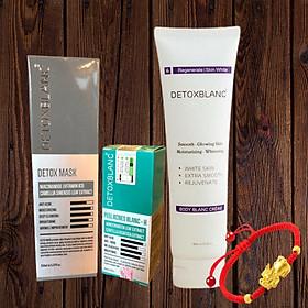 Combo Detox Blanc Thải độc Giảm mụn tận gốc Mặt Nạ Detox mask và Serum mụn Lộc Đề(mẫu mới) + Tặng kèm Kem Dưỡng Trắng Da Toàn Thân, tặng vòng tay thời trang cực xinh
