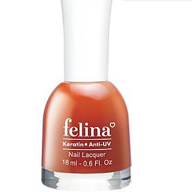 Sơn móng tay Felina 18ml CS204 - Đỏ Cam
