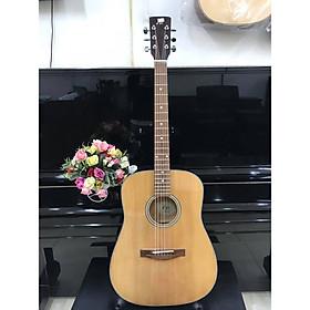 Đàn guitar Acoustic MKAC953, thùng vuông, màu vân gỗ, Việt Nam, bao da 2 lớp, bộ dây dự phòng(ảnh thật)