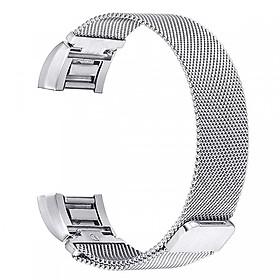 Dây thay thế cho đồng hồ Fitbit Charge 2 lưới thép không gỉ