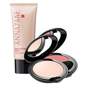 Bộ Makeup 3 Món Annayake: Kem Nền + Phấn Phủ + Phấn Má Hồng Dâu