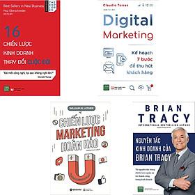 Combo 4 Cuốn Sách : 16 Chiến Lược Kinh Doanh Thay Đổi Cuộc Đời + Nguyên Tắc Kinh Doanh Của Brian Tracy + Digital Marketing - Kế Hoạch 7 Bước Để Thu Hút Khách Hàng + Chiến Lược Marketing Hoàn Hảo