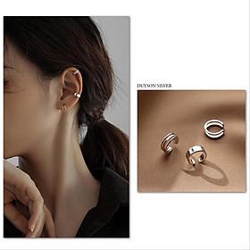 Bông tai bạc nữ Khuyên tai bạc nữ kẹp vành Earcuff